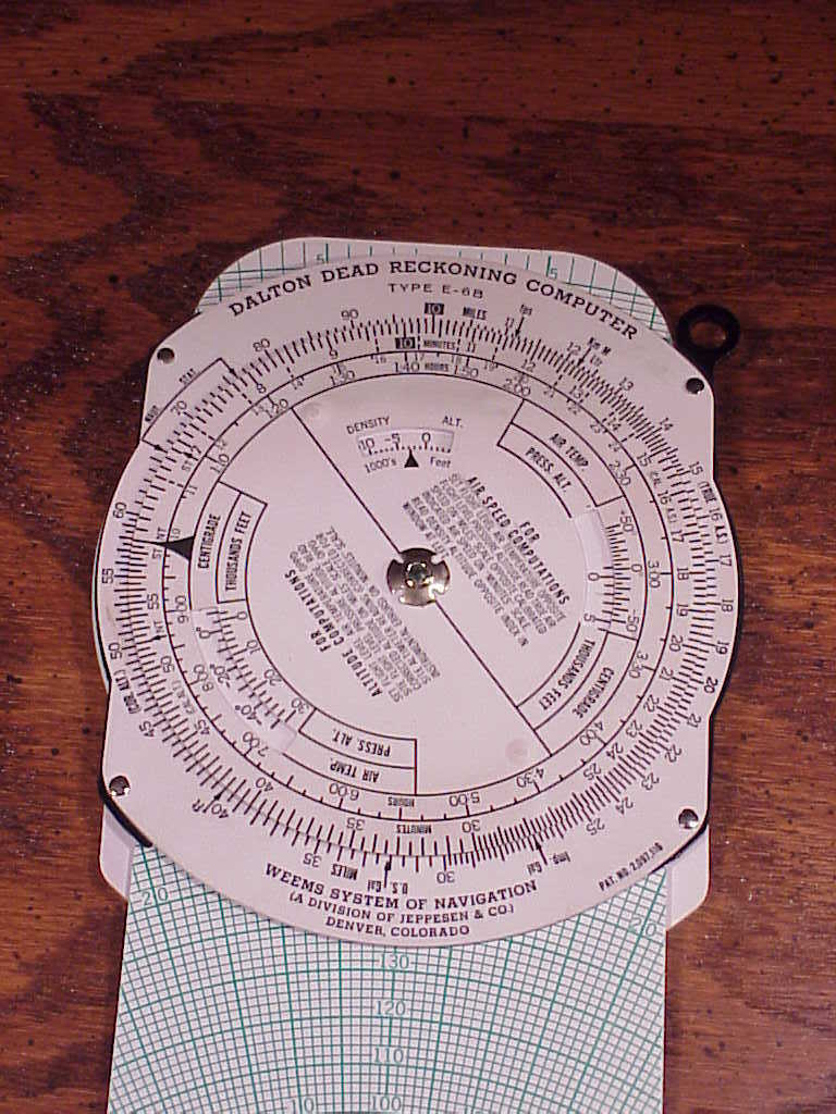 Dalton Dead Reckoning Flight Computer, model E-6B, with case