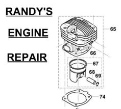 Piston Cylinder kit Dolmar PS 5000 H HD 181130255  - $249.99