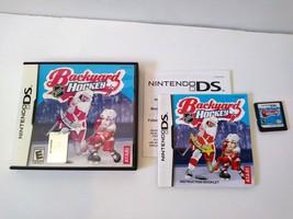 Backyard Hockey NINTENDO DS 2007 -Complete -Mint -Works Great! RARE spor... - $39.95
