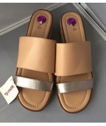 NWT KDB Women's Two Tone Slip-On Slide Sandals Size 8.5M - $29.95