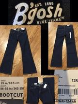 NEW! B'gosh Blue Jeans Girl's 12R Boot Cut Ajustable Waist Retail $34.00 NWT! - $9.89