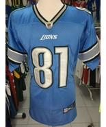 Trikot Detroit Lions (50)#81 Calvin Johnson Reebok NFL Jersey Football - $41.90