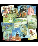 12 Pretty Cards w/ Hans Christian Andersen's Fa... - $22.50