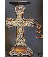 Cross Taper Candle Holder- Victorian- Renaissance-  - $9.99