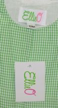 Ellie O Gingham Full Lined Longall Size 12 Months Color Green image 3