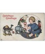 Xmas vintage postcard MEP Price artist signed toys 1921  - $9.00