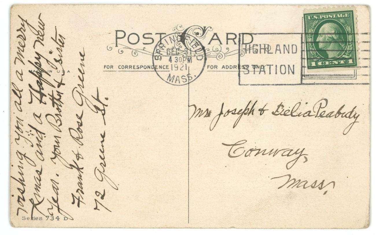 Xmas vintage postcard MEP Price artist signed toys 1921