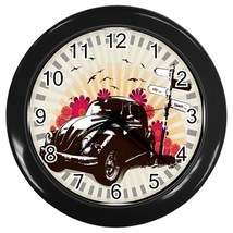 Summer Days Custom Black Wall Clock - $19.95