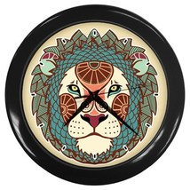 Leo The Lion Custom Black Wall Clock - $19.95