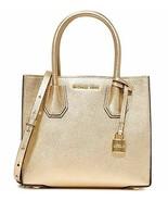 Michael Kors Mercer Tote Crossbody Convertible Leather Pale Gold $298 NE... - $170.66
