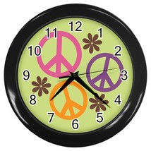 Peace Custom Black Wall Clock - $19.95