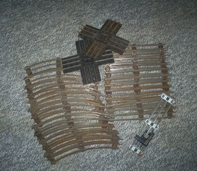 Primary image for Vintage Lionel Railroad tracks, 26 pieces, O Gauge, 5020