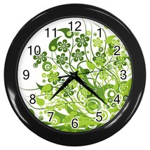 Eco Green Custom Black Wall Clock - $19.95