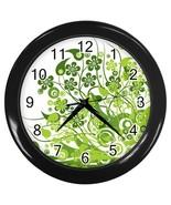Eco Green Custom Black Wall Clock - $19.95