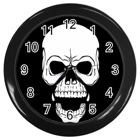 Skull Custom Black Wall Clock