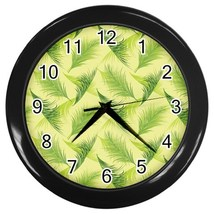 Leaves Custom Black Wall Clock - $19.95