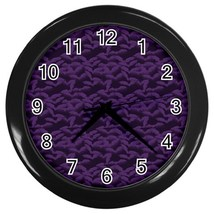 Purple Custom Black Wall Clock - $19.95