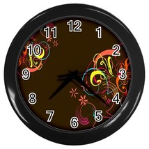 Designer Series 5 Custom Black Wall Clock - $19.95