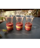 SISAL-WRAPPED LIQUEUR GLASSES - SET OF 3 - RARE... - $4.99