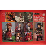 Doll Clothes Russian Spanish World Knitting Patterns Pattern - $9.99