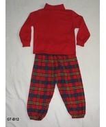 Okie-dokie Sz 3T Red Turtleneck Top with Plaid Pants - $12.99