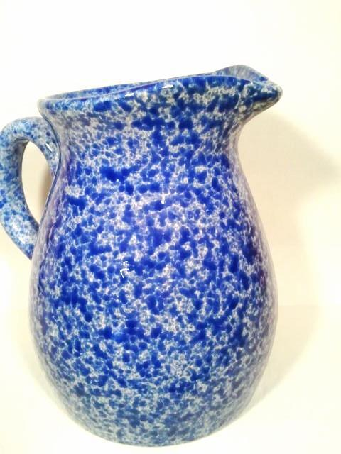 Eurogres Blue Spongeware Pitcher