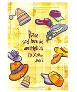 Postcard Peace And Love Be Multiplied To You Ju... - $4.99