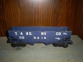 Vintage Lionel TA & G Blue Two Bay Hopper, 6-9012, O & 027, Metal Wheels... - $15.00
