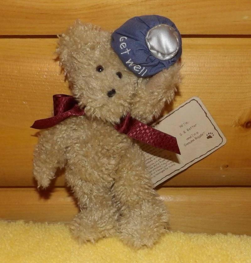 Boyds Thinking of Ya Tan Oatmeal U.B. BETTER Get Well Plush Bear Holds Ice Pack  - $5.95