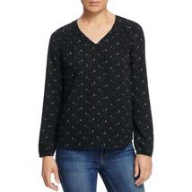 Daniel Rainn Women's Floral Lace Insert Blouse, Black, S - $11.47