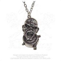 Alchemy Gothic PP504 Iron Maiden: Piece Of Mind Eddie Necklace Pendant - $24.72