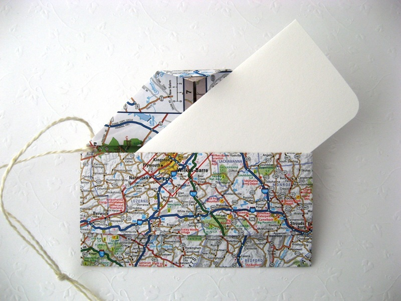 Recycled Origami Clutch Note Card Set Handmade by Chula