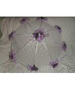 "32"" Bridal Shower Wedding  Lace lavender roses Umbrella - $24.99"