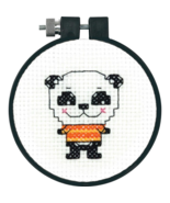 Cute Panda Learn-A-Craft Beginner Counted Cross... - $4.50