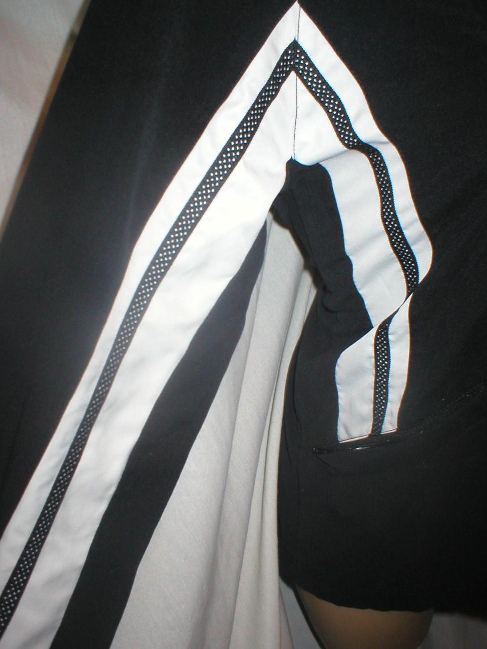 Nike black & white zip athletic sport warm up jacket Medium M