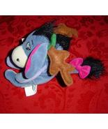 "Disney Mini Bean Bag Reindeer Eeyore 9"" antlers plush - $10.00"