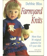 Farmyard Knits 30 Knitting Patterns Kids Sweaters Onesie Animals Debbie ... - $9.93