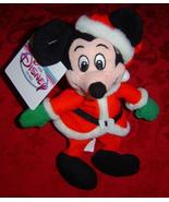 "Disney Mini Bean Bag Santa Mickey 7"" red suit and hat plush - $10.00"