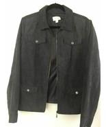 Studio Works Women Jacket Pewter Gray Zipper Long Sleeve Lined Pockets S... - $24.95
