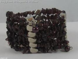 Garnet Matrix Gemstone Chips Necklace / Bracelet Lariat - $24.95