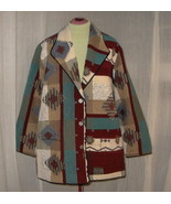 Navajo Indian Design Tapestry Blanket Carpet Coat Jacket Plus Size 3X - $44.00