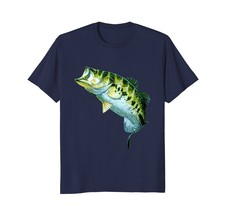 Fantastic Full Feature Image Largemouth Bass T-Shirt Gift. Men - $19.95+
