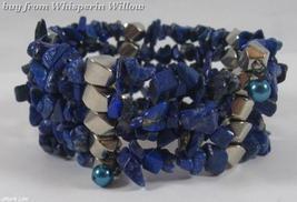 Lapis Lazuli Matrix Gemstone Necklace / Bracelet Lariat - $24.95