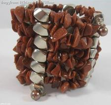 Topaz Matrix Gemstone Chips Necklace / Bracelet Lariat - $24.95