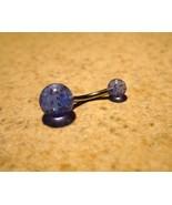 BELLY NAVEL RING BLUE SPARKLE DESIGN #483D - $4.99