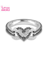 Love Cupids Arrow Engagement/wedding Rings Women Fashion 8 Shape Heart Z... - $7.99