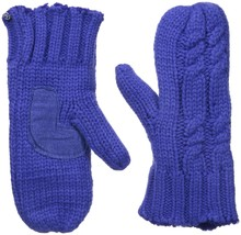 Isotoner Women's Chunky Cable Knit Sherpasoft Mittens - $17.63