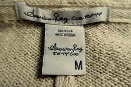 AMERICAN RAG Oversized Open Front Sweater Vest Southwest Print Fringed FLAW Sz M image 7