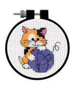 Cute Kitty Learn-A-Craft Beginner Counted Cross... - $3.15