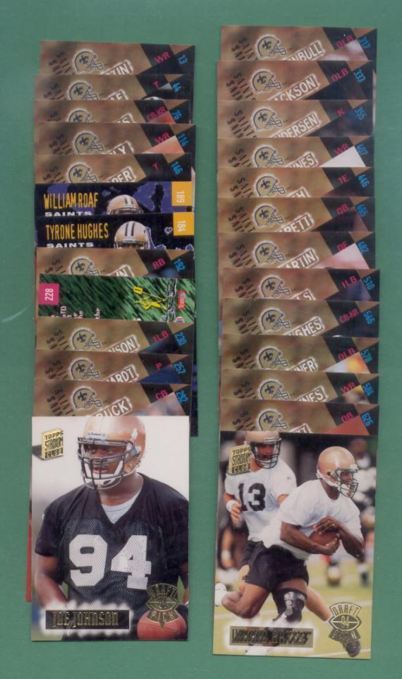 1994 Stadium Club New Orleans Saints Football Set